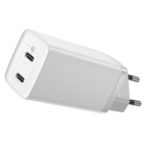 Wall Chargers - Baseus GaN Lite Quick Travel Charger C+C 65W EU (white) - 1 - krytarna.cz