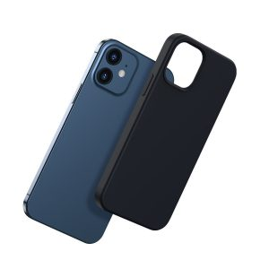 iPhone 12 mini - Baseus Liquid Silica Magnetic Case Apple iPhone 12 mini (Black) - 2 - krytarna.cz