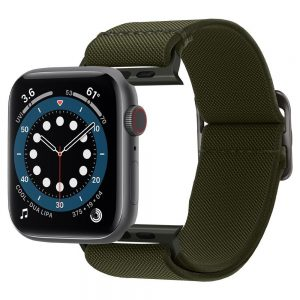 Apple Watch - Spigen Fit Lite Strap Apple Watch SE/6/5/4 44mm Khaki - 1 - krytarna.cz
