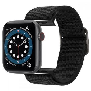 Apple Watch - Spigen Fit Lite Strap Apple Watch 4/5/6/SE 44mm Black - 1 - krytarna.cz