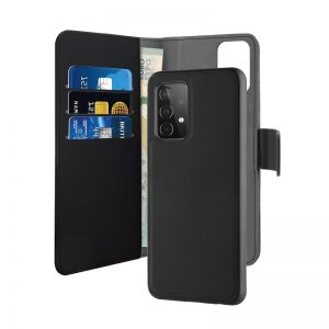 A52 5G - PURO Wallet Detachable 2in1 Samsung Galaxy A52 (black) - 1 - krytarna.cz
