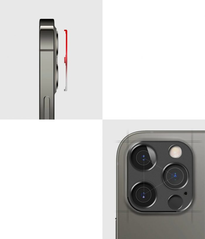 iphone 12 pro max - ringke camera styling apple iphone 12 pro max silver - 7 - krytarna.cz