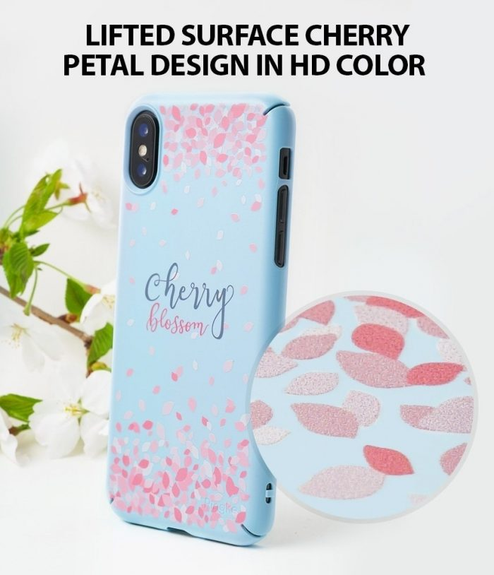 iphone xs - ringke slim cherry blossom iphone xs/x 5.8 sky blue - 5 - krytarna.cz