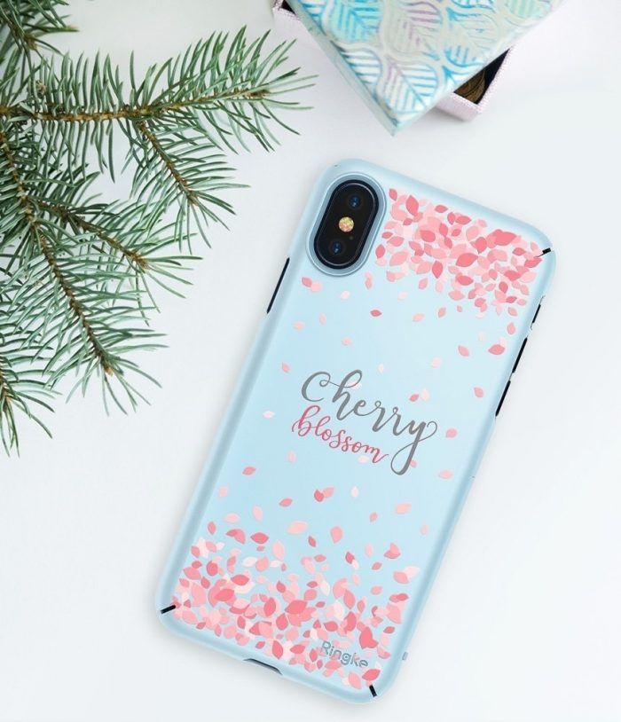 iphone xs - ringke slim cherry blossom iphone xs/x 5.8 sky blue - 7 - krytarna.cz