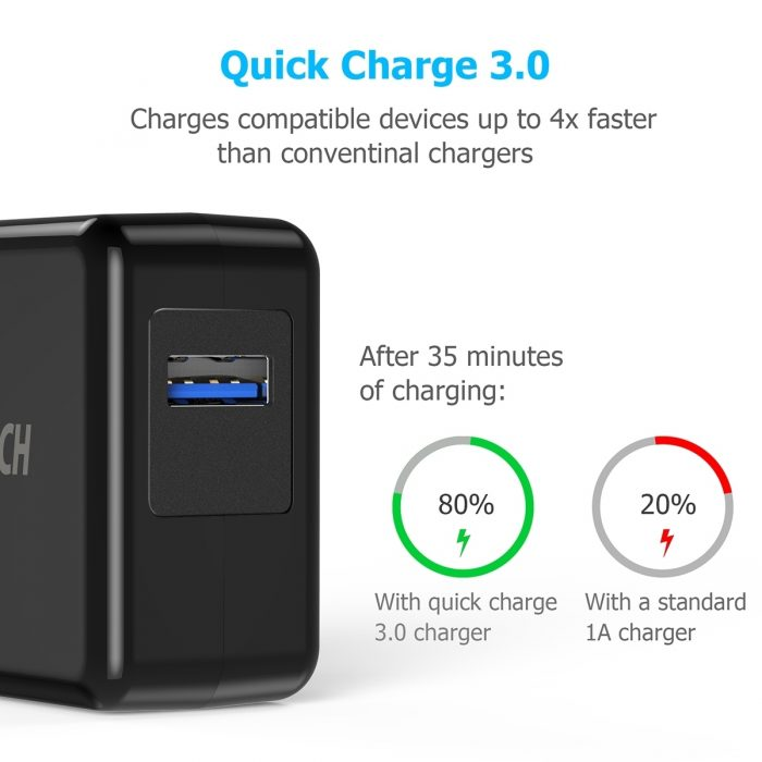 cables - choetech wall charger qc3 - 2 - krytarna.cz