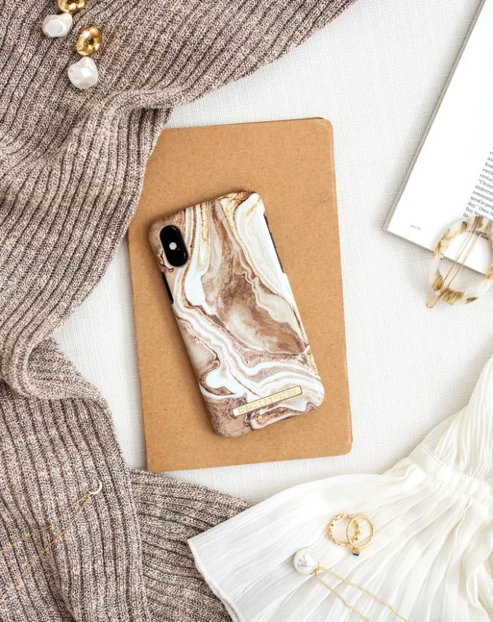 iphone 12 pro - ideal of sweden fashion apple iphone 12/12 pro (golden sand marble) - 2 - krytarna.cz