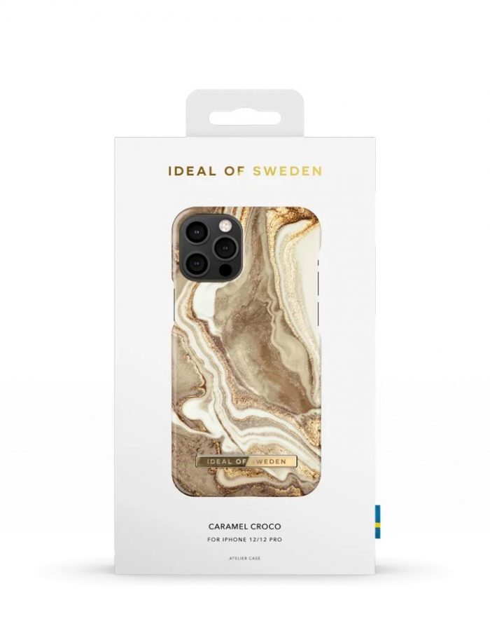 iphone 12 pro - ideal of sweden fashion apple iphone 12/12 pro (golden sand marble) - 4 - krytarna.cz