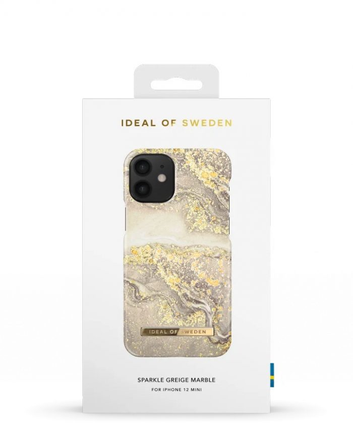 iphone 12 mini - ideal of sweden fashion apple iphone 12 mini (sparkle greige marble) - 4 - krytarna.cz