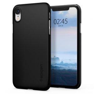 iPhone XR - Spigen Thin Fit Apple iPhone XR Black - 1 - krytarna.cz