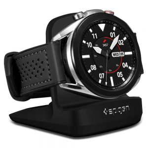 Wireless chargers - Spigen S352 Night Stand Samsung Galaxy Watch 3 Black - 1 - krytarna.cz
