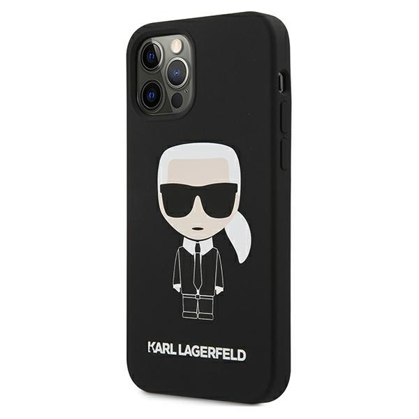 iphone 12 pro max - karl lagerfeld klhcp12lslfkbk apple iphone 12 pro max hardcase black silicone iconic - 2 - krytarna.cz
