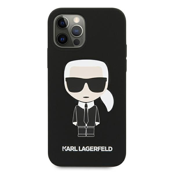 iphone 12 pro max - karl lagerfeld klhcp12lslfkbk apple iphone 12 pro max hardcase black silicone iconic - 3 - krytarna.cz