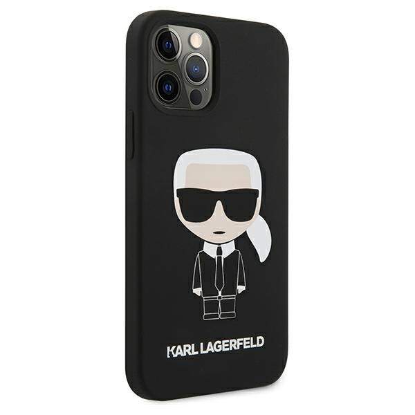 iphone 12 pro max - karl lagerfeld klhcp12lslfkbk apple iphone 12 pro max hardcase black silicone iconic - 4 - krytarna.cz