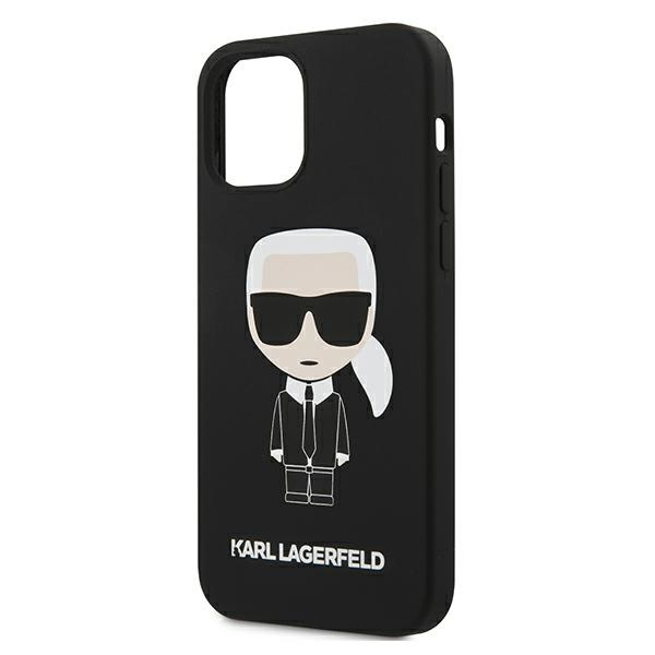 iphone 12 pro max - karl lagerfeld klhcp12lslfkbk apple iphone 12 pro max hardcase black silicone iconic - 6 - krytarna.cz