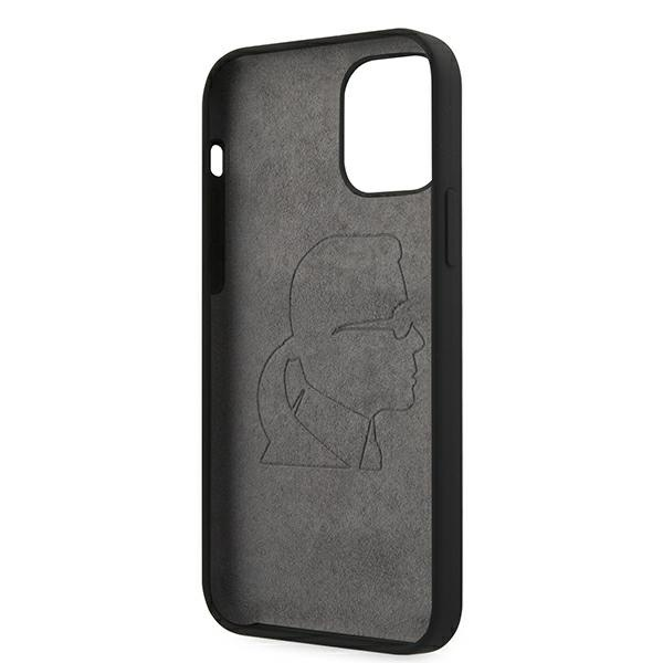 iphone 12 pro max - karl lagerfeld klhcp12lslfkbk apple iphone 12 pro max hardcase black silicone iconic - 7 - krytarna.cz
