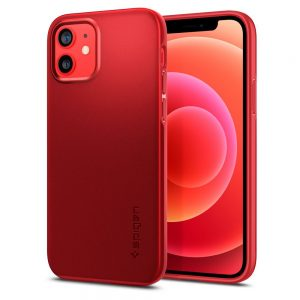 iPhone 12 Pro - Spigen Thin Fit Apple iPhone 12/12 Pro Red - 1 - krytarna.cz