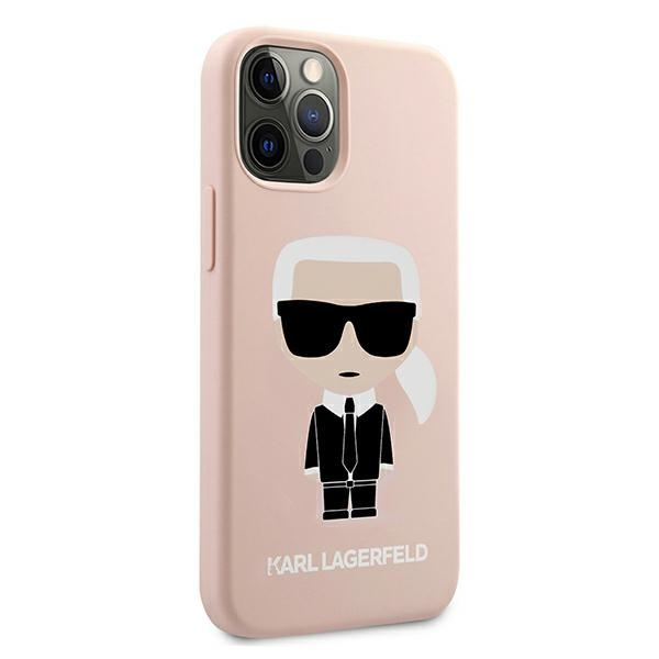 iphone 12 pro - karl lagerfeld klhcp12mslfkpi apple iphone 12/12 pro hardcase light pink silicone iconic - 4 - krytarna.cz