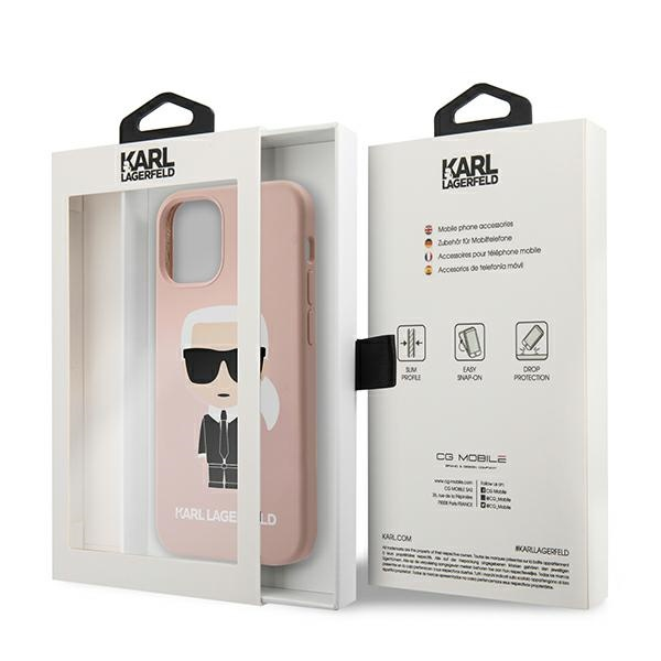 iphone 12 pro - karl lagerfeld klhcp12mslfkpi apple iphone 12/12 pro hardcase light pink silicone iconic - 8 - krytarna.cz