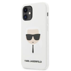 iPhone 12 mini - Karl Lagerfeld KLHCP12SSLKHWH Apple iPhone 12 mini white hardcase Silicone Karl`s Head - 1 - krytarna.cz