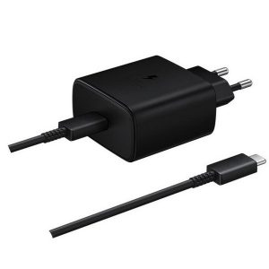 Wall Chargers - Samsung Charger EP-TA845XB PD 45W C to C Cable Super Fast Charge black - 1 - krytarna.cz