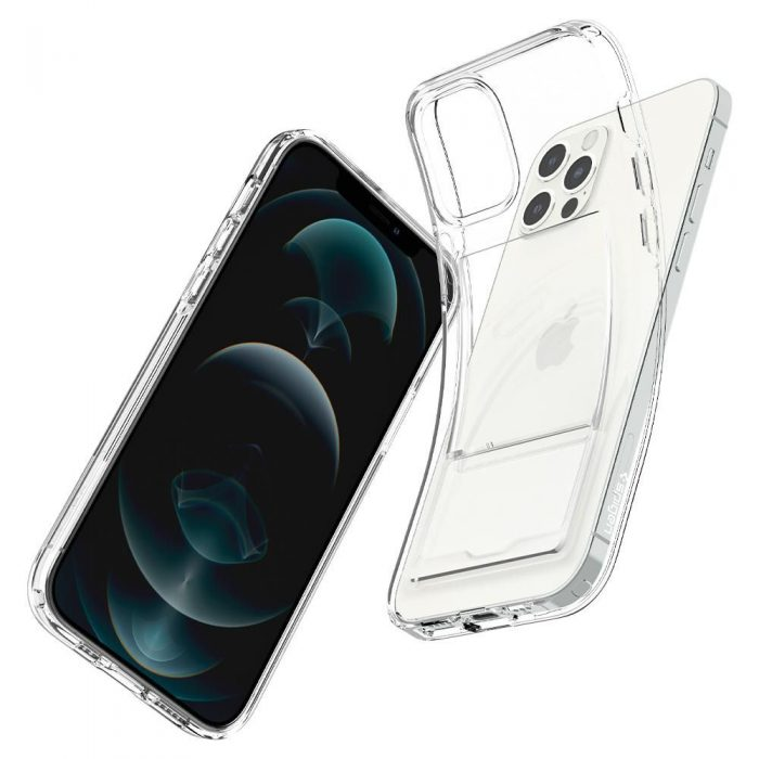 iphone 12 pro max - spigen crystal slot apple iphone 12 pro max crystal clear - 7 - krytarna.cz