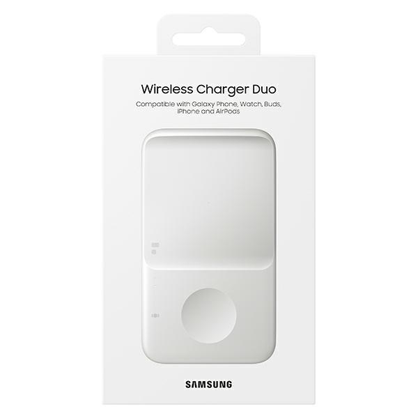 wireless chargers - samsung duo wireless charger ep-p4300tw white - 7 - krytarna.cz