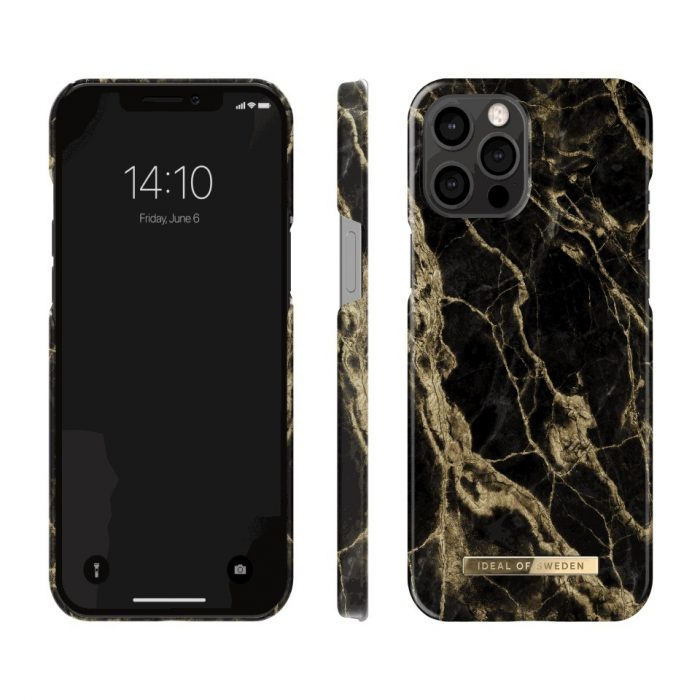 iphone 12 pro - ideal of sweden fashion apple iphone 12/12 pro (golden smoke marble) - 2 - krytarna.cz