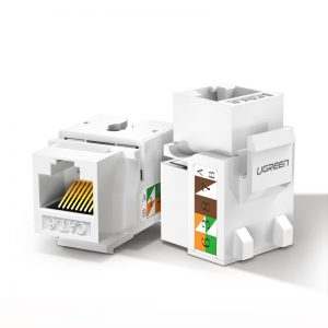Other accessories - Ugreen unshielded network modules Keystone Ethernet Cat 5e 8P8C RJ45 100 Mbps 568A/B white (80176 NW142) - 1 - krytarna.cz