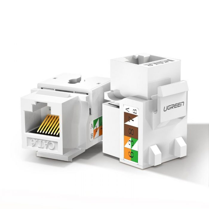 other accessories - ugreen unshielded network modules ethernet cat 6 8p8c rj45 1000 mbps 568a/b white (80178 nw143) - 1 - krytarna.cz