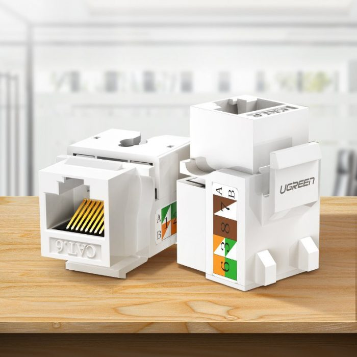 other accessories - ugreen unshielded network modules keystone ethernet cat 5e 8p8c rj45 100 mbps 568a/b white (80176 nw142) - 3 - krytarna.cz