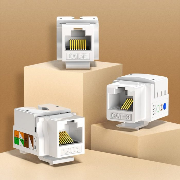 other accessories - ugreen 5x unshielded network modules ethernet cat 6 8p8c rj45 1000 mbps 568a/b white (80179 nw143) - 2 - krytarna.cz