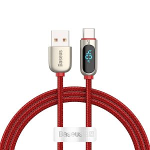 USB-C - USB-A - Baseus Display Cable USB to Type-C 5A 1m (red) - 1 - krytarna.cz