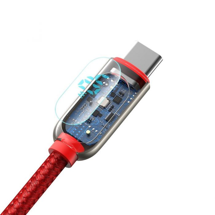 usb-c - usb-a - baseus display cable usb to type-c 5a 1m (red) - 5 - krytarna.cz