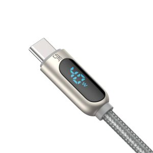 USB-C - USB-A - Baseus Display Cable USB to Type-C 5A 1m (silver) - 2 - krytarna.cz