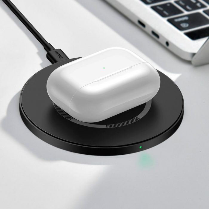 wireless chargers - baseus simple 15w wireless induction charger with magnet (black) - 9 - krytarna.cz