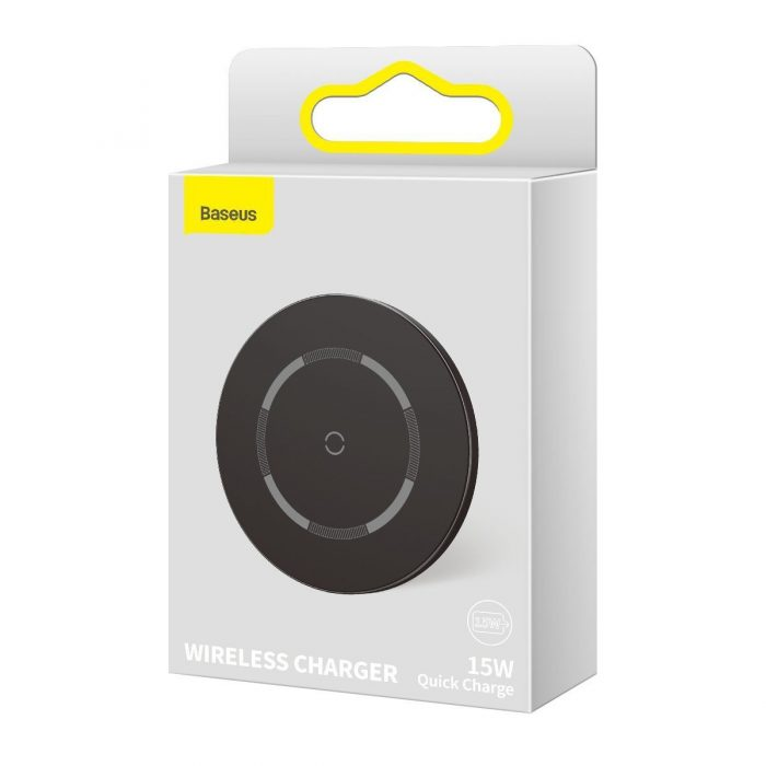 wireless chargers - baseus simple 15w wireless induction charger with magnet (black) - 10 - krytarna.cz