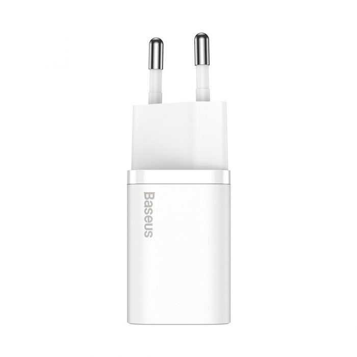 wall chargers - baseus super si quick charger 1c 20w (white) - 2 - krytarna.cz