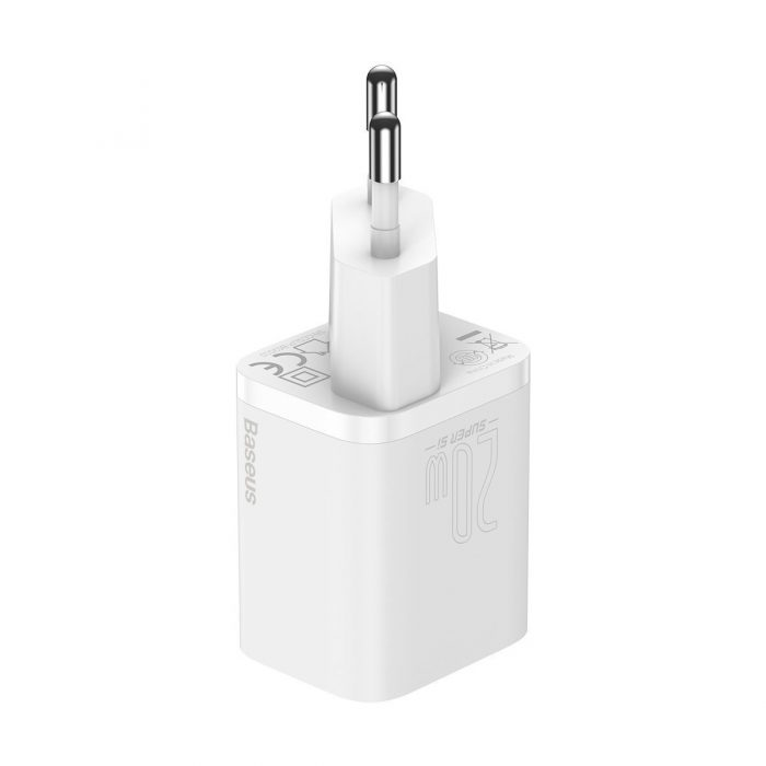 wall chargers - baseus super si quick charger 1c 20w (white) - 3 - krytarna.cz