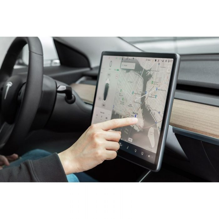 other accessories - moshi ivisor ag - bubble-free screen protector for tesla model 3's central touchscreen (black/clear matte) - 5 - krytarna.cz