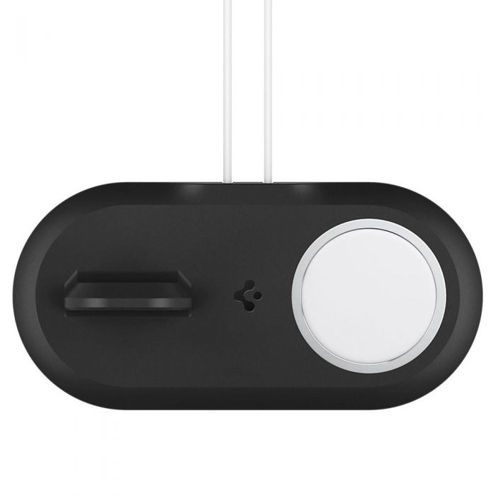 wireless chargers - spigen magfit duo apple magsafe & apple watch charger stand black - 4 - krytarna.cz
