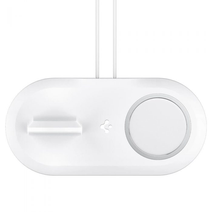 wireless chargers - spigen magfit duo apple magsafe & apple watch charger stand white - 4 - krytarna.cz