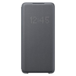 S20 Plus - Samsung Galaxy S20+ Plus EF-NG985PJ gray LED View Cover - 1 - krytarna.cz