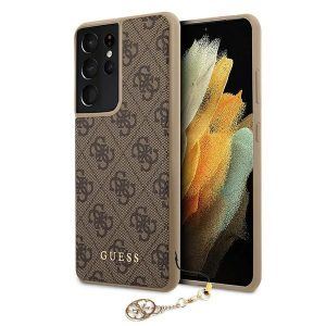 S21 Ultra - Guess GUHCS21LGF4GBR Samsung Galaxy S21 Ultra brown hardcase 4G Charms Collection - 1 - krytarna.cz