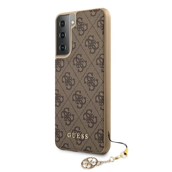 s21 - guess guhcs21sgf4gbr samsung galaxy s21 brown hardcase 4g charms collection - 2 - krytarna.cz
