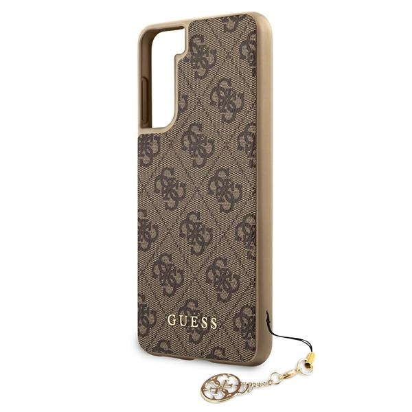 s21 - guess guhcs21sgf4gbr samsung galaxy s21 brown hardcase 4g charms collection - 6 - krytarna.cz