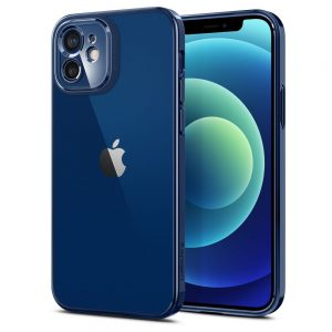 iPhone 12 - Spigen Optik Crystal Apple iPhone 12 Chrome Blue - 1 - krytarna.cz