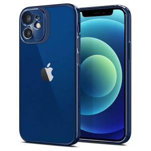 iPhone 12 mini - Spigen Optik Crystal Apple iPhone 12 mini Chrome Blue - 1 - krytarna.cz