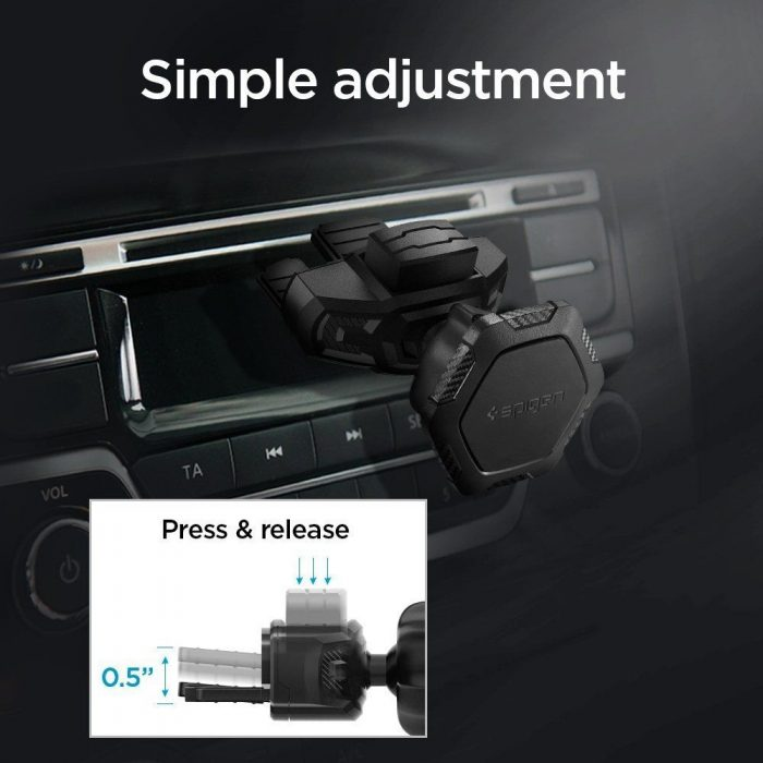 mounts - spigen qs24 magnetic cd car mount holder - 5 - krytarna.cz