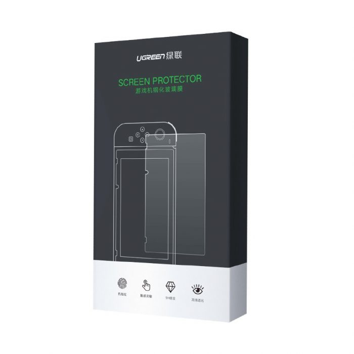 ugreen 2x tempered glass for nintendo switch transparent (50728) - export 834