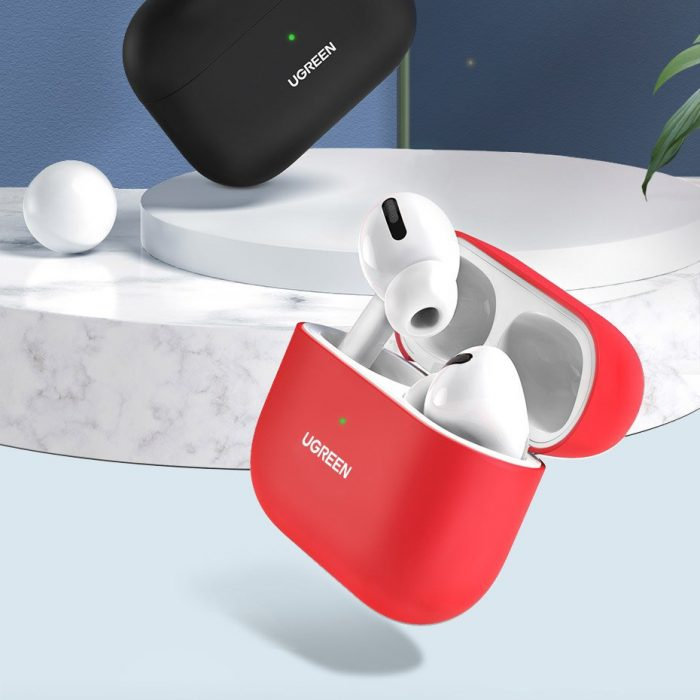 airpods - ugreen silica gel case protector for apple airpods pro black (80513) - 3 - krytarna.cz